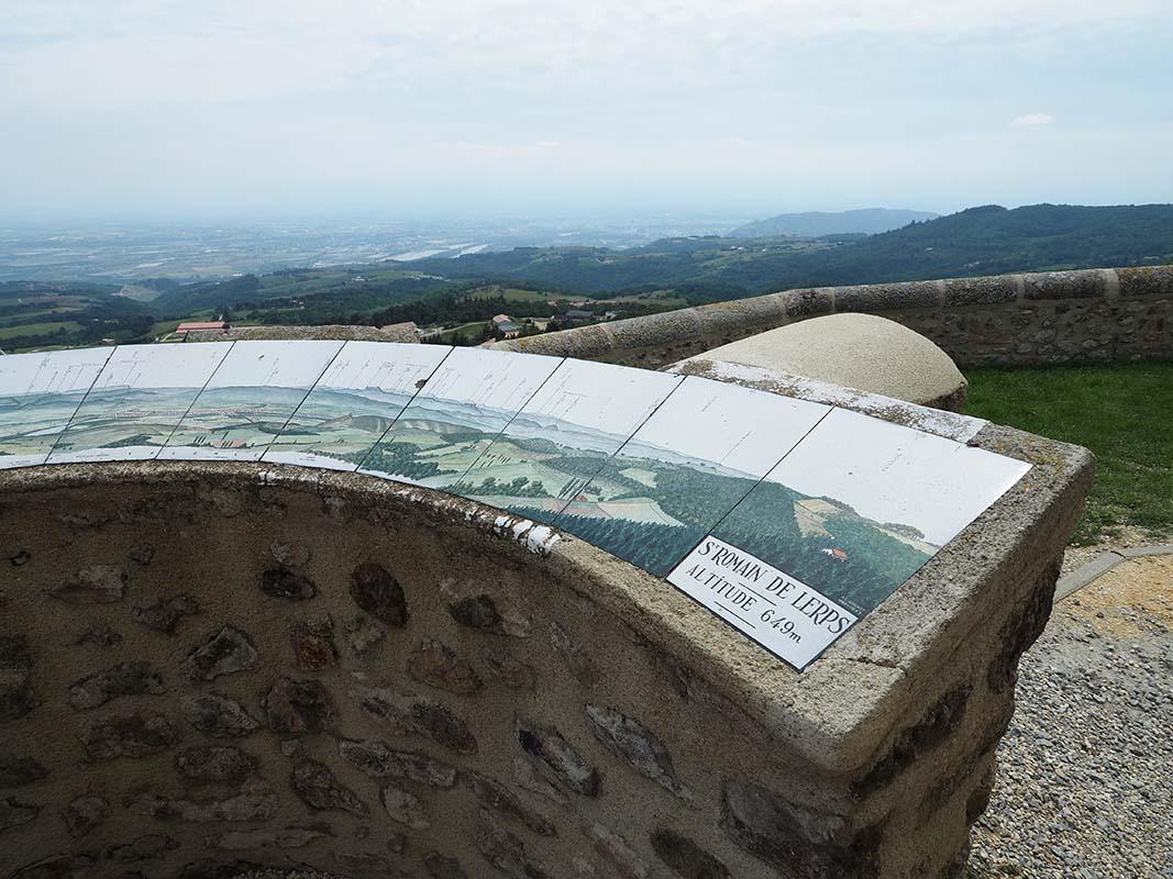 Table d'orientation du pic de Saint Romain de Lerps, Ardèche