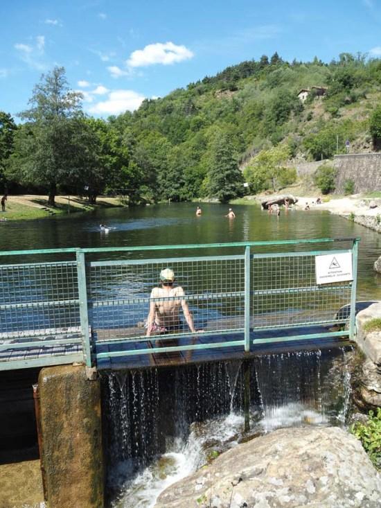 Plan d'eau de Lamastre en Ardèche