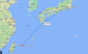 Localisation d'Ishigaki par rapport à l'archipel du Japon