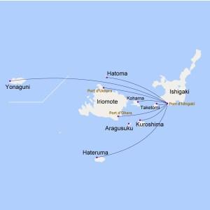Ferry depuis Ishigaki pour visiter les îles du Japon