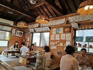 Restaurent à Taketomi Jima, Japon