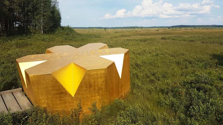 Etoile dorée du parc national Store Mosse en Suède