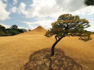 Mini Mt Fuji du parc Suizenji de Kumamoto