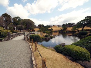 Jardin Suizenji Jojuen à Kumamoto, Japon