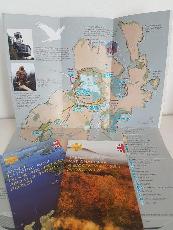 Brochure des parcs nationaux suédois