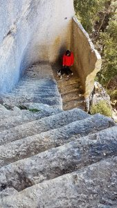 Escalier secret du fort de Buoux