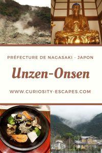 La préfecture de Nagasaki et son volcan le mont Unzen, Japon