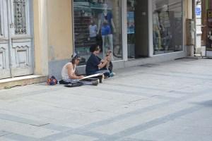 Artistes dans les rues de Bitola
