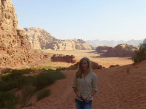 Wadi Rum Jordan backpacking