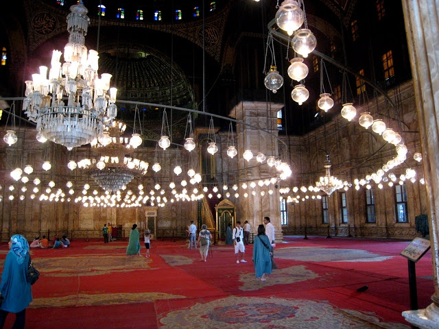 lights mosque cairo