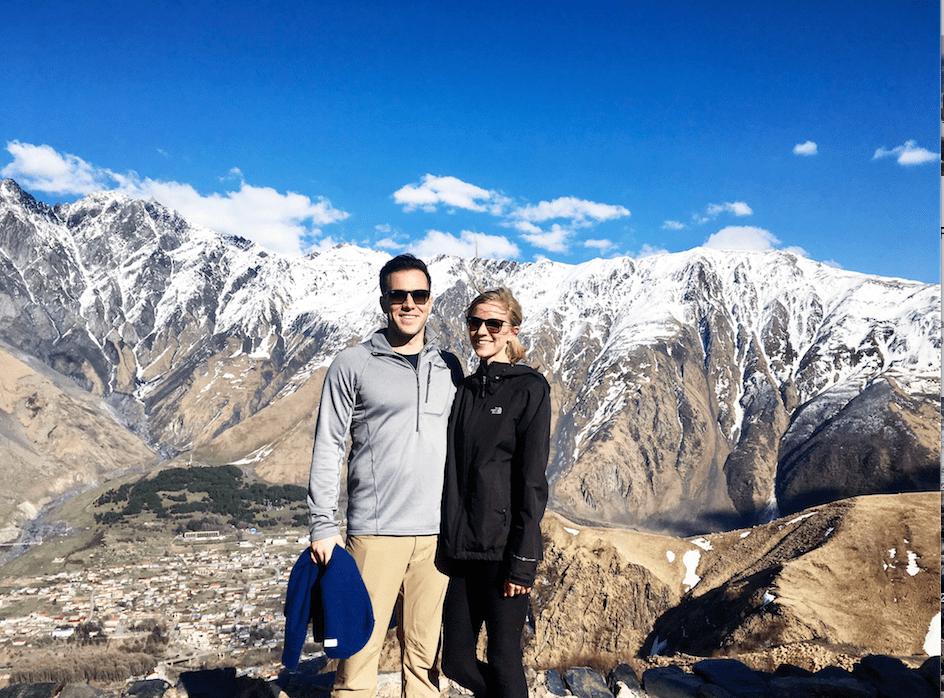 hiking in kazbegi