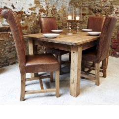 Rustic Dining Chairs Uk Chair And Accessories Haddon Plank Table Leather From Curiosity Interiors Amp Package