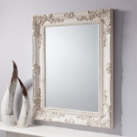 Buy Ornate Cream Wall Mirror Rustic Carved Baroque