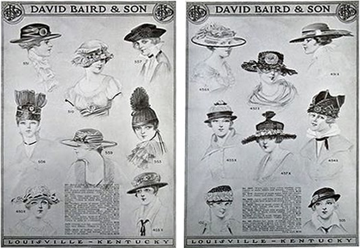 Hats from David Baird & Son Milliners