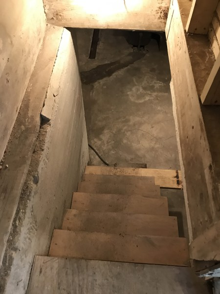 Stairs to Basement - Leslie K. Singley House, Druid Hills