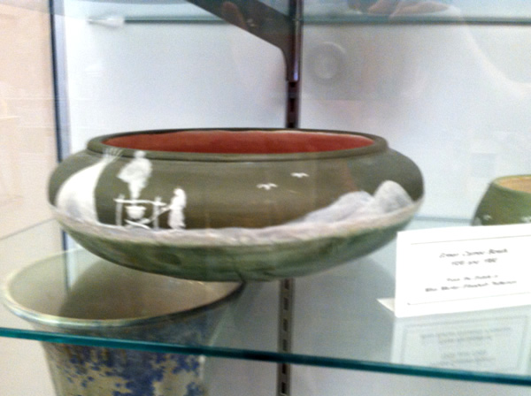 Green Cameo Bowls, 1959 and 1960 from Pisgah Forest Pottery