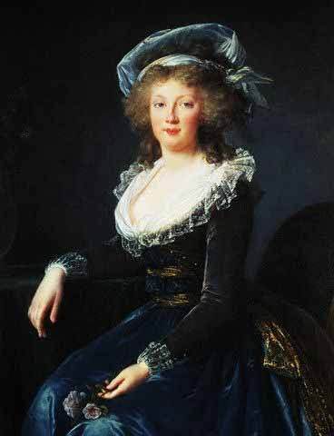 Portrait of , Later Empress of Austria by Marie Louise Elisabeth Vigee-Lebrun