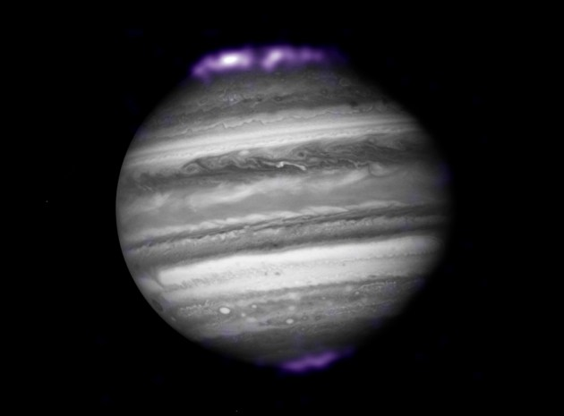 Jupiter as seen at a distance of about 400 million miles.