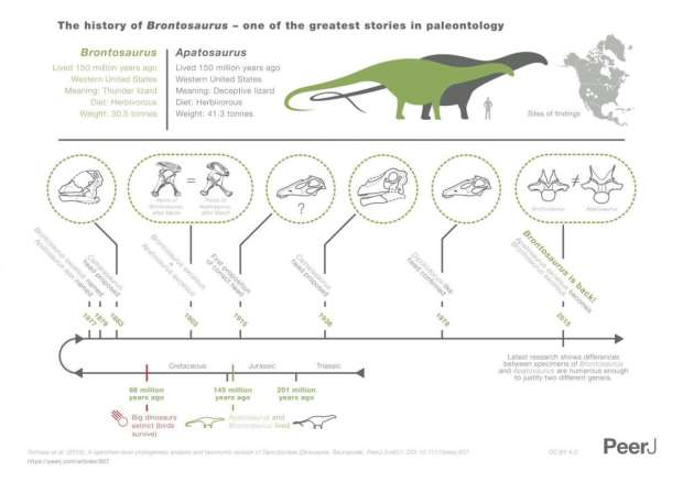 História do Brontossauro