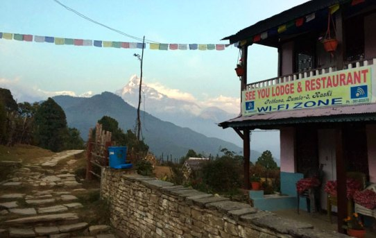 Hiking to Annapurna Base Camp