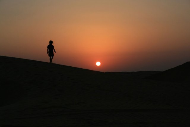 Girl in Wahiba Sands,Oman