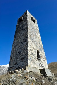 Lookout tower at Dargavs
