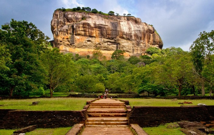 Sigiriya rock fortress in Sri lanka