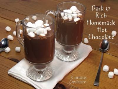 Dark and Rich Homemade Hot Chocolate
