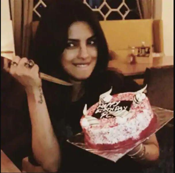 priyanka chopra funny cake photo