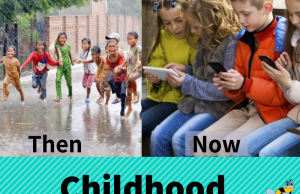 Childhood Then And Now Banner