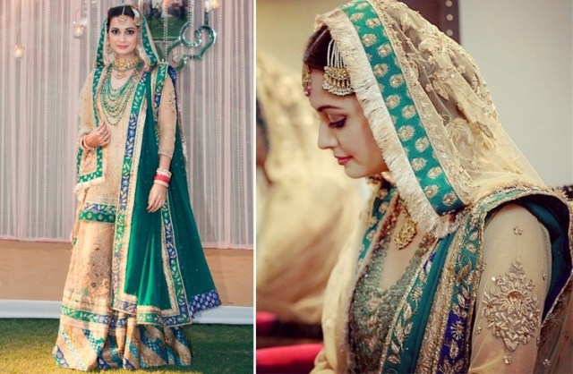 Dia Mirza Bollywood Star Wedding Dress