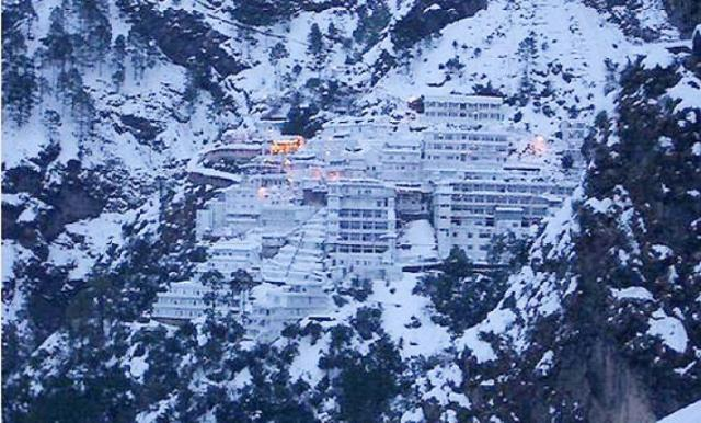 Vaishno Devi during snowfall