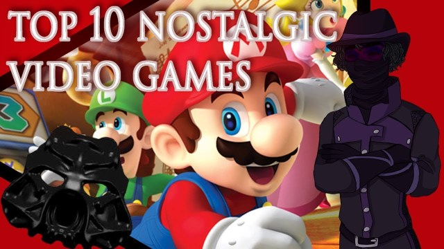 nostalgic video games banner