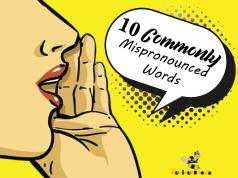 10 Mispronounce words