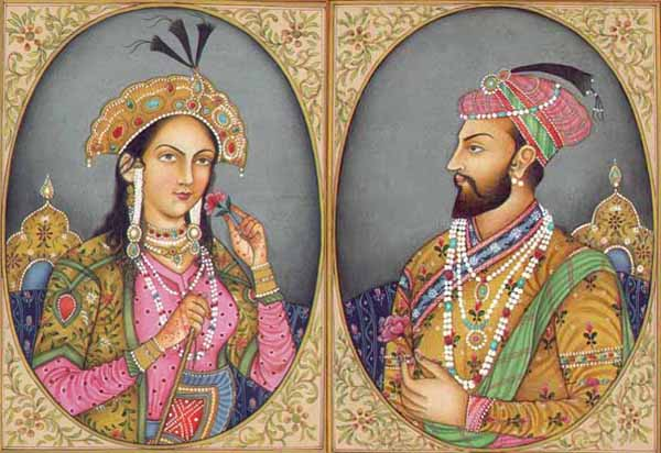 Shah Jahan and his wife