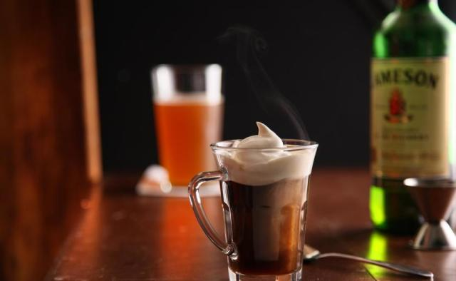 Hot Boozy Coffee Cocktail