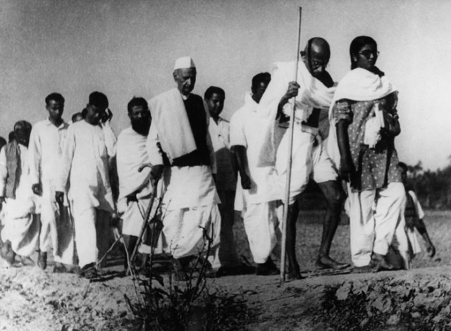 Gandhi Ji walking