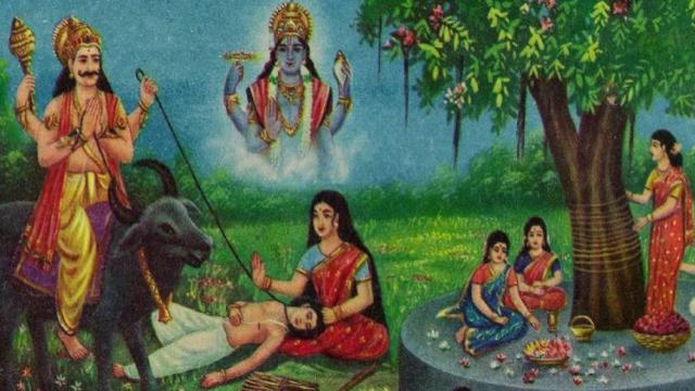 Karva Chauth Satyavan and Savitri