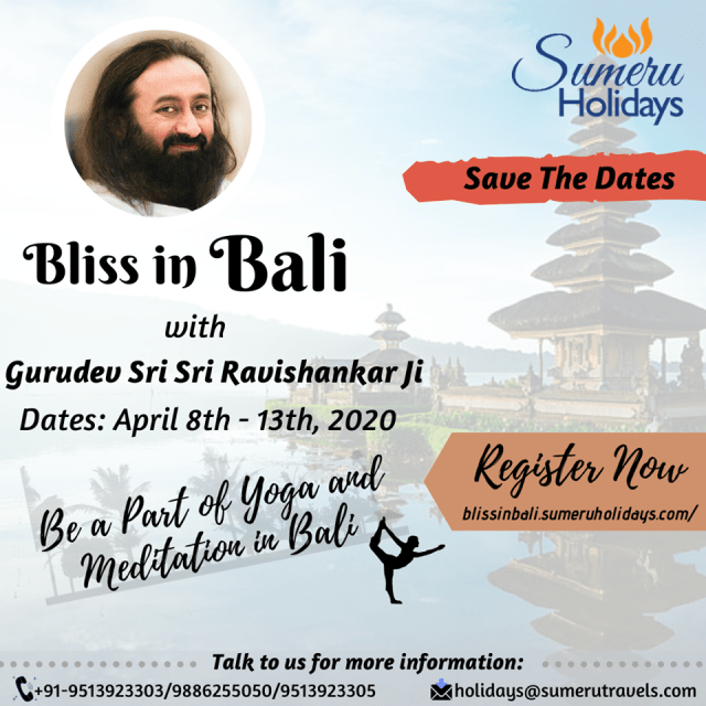 Bliss In Bali sri sri ravi shankar tour package