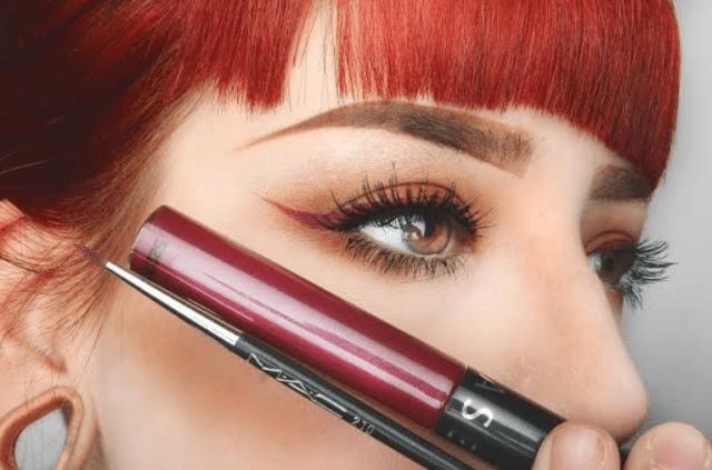 lipstick as eye liner