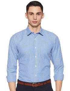 Amazon Brand - Symbol Men's Regular fit Formal Shirt - Curiouskeeda
