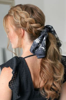 braid style for scarf