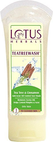 Lotus Herbals Tea Tree and Cinnamon Anti-Acne Oil Control Face Wash-120g