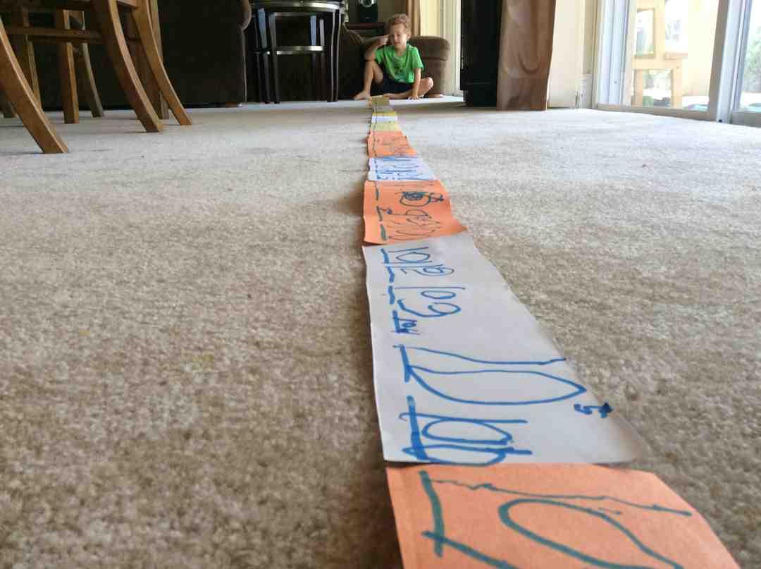 Kindergarten Counting Number Line