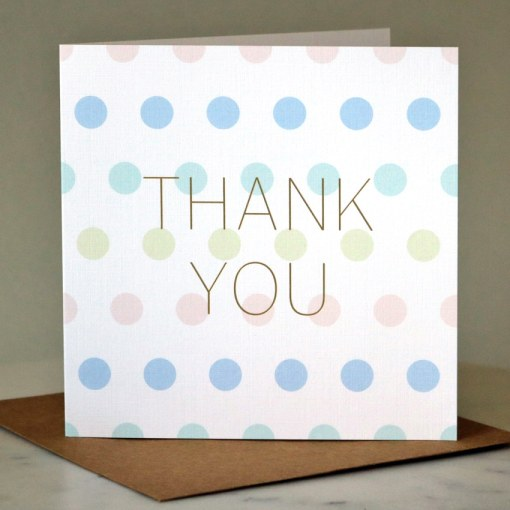 'Thank You' greeting card