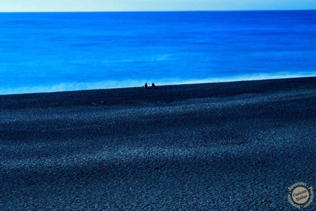 black sand beach, cali