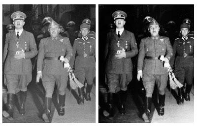 Las fotos trucadas de Franco en Hendaya