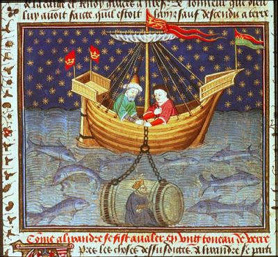 Alejandro Magno aficionado al mundo submarino