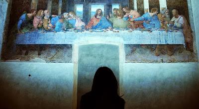 La última cena de Da Vinci, destruida para cenar caliente