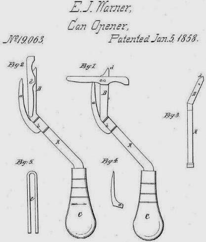Diseño de la patente de Ezra Warner